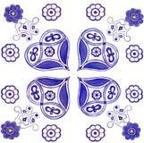 Ornament festive hearts. Watercolor illustration ornament festive hearts royalty free illustration