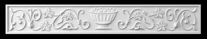 Ornament fireplace Royalty Free Stock Photo