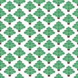 Ornament of the firs. Vector illustration. Seamless ornament, composed of a mass of green fir-trees Stock Image