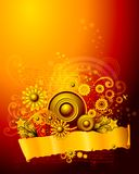 Ornament floral background Stock Photos