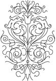 Ornament floral black and white vector. Black and white ornament template for couple of wedding floral decoration Stock Images