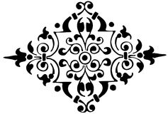 Ornament floral black and white vector Royalty Free Stock Image