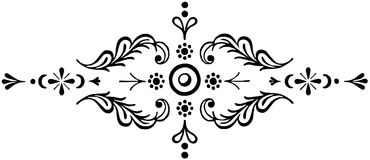 Ornament floral black and white vector Royalty Free Stock Photo