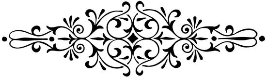 Ornament floral black and white vector Royalty Free Stock Images