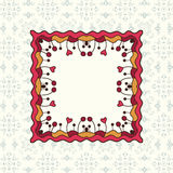 Ornament floral pattern frame Stock Photos