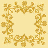 Ornament floral pattern vintage frame Royalty Free Stock Photography