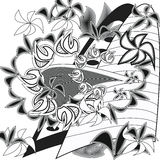 Ornament. Floral ornament shade of gray royalty free illustration