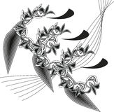 Ornament. Floral ornament shade of gray stock illustration
