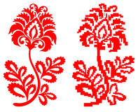 Ornament. Floralflower red for background Royalty Free Stock Images