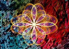 Ornament flower abstract rainbow texture paint background royalty free stock photos