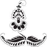 Ornament Flower from granules Ukrainian traditiona Royalty Free Stock Photo