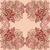 Ornament. Flower red ornament. hand-drawn card Stock Photo