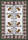 Carpet ornamental  folk tracery Stock Photography