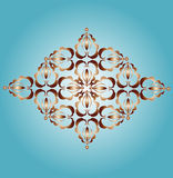 Ornament fragment. Sample of a symmetric ornament. Vector illustration.Vintage Royalty Free Stock Image