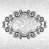 Ornament frame on grunge background Royalty Free Stock Photos