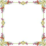 Ornament frame1 pastel square Stock Images