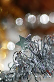 Ornament. Garland with Star 2. New Year and X-mas toys. Greeting card. Preparation to winter Holidays stock photography