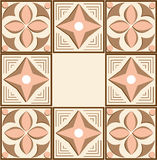 Ornament. Geometrical ornament vintage color pink and brown Royalty Free Stock Photography