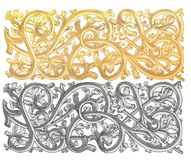 Ornament gold Royalty Free Stock Photos