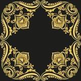 Ornament gold pattern frame Stock Image