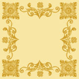 Ornament gold pattern vintage frame Stock Photo