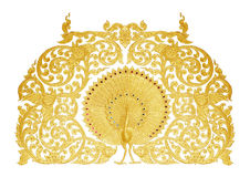 Ornament of gold plated vintage floral Royalty Free Stock Images