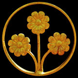 Ornament of gold plated vintage floral. Victorian Style Stock Images