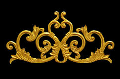 Ornament of gold plated vintage floral ,victorian Style Royalty Free Stock Images