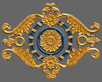 Ornament of gold plated vintage floral. Victorian Style Stock Photography