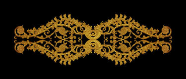 Ornament of gold plated vintage floral Royalty Free Stock Photography