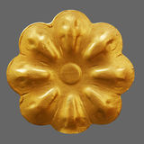 Ornament of gold plated vintage floral. Victorian Style Stock Image