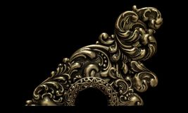 Ornament, Gold, Victorian Royalty Free Stock Image