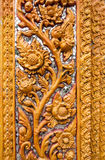 Ornament golden vintage flower stucco decoration elements on whi Royalty Free Stock Image