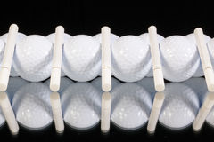 Ornament from golf balls and cigarettes Royalty Free Stock Photo