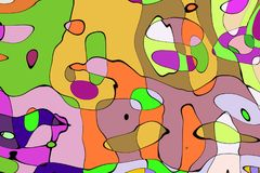 Ornament graphics- mathematic pattern Stock Photo