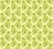 Ornament green. A pattern with green floral ornament Stock Photos