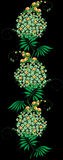 Ornament from green and yellow Flower Stock Image