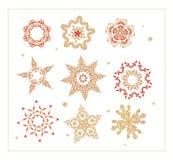 Ornament gwiazda Ilustracji