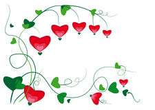 Ornament Heart. Floral ornament with flowers in the form of hearts Royalty Free Stock Photos