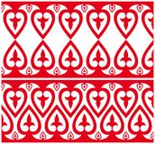 Ornament with heart arrangemen. 2 versions of seamless ornament – vector graphic perfect to use in various designs Stock Photography