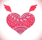 Ornament heart shape for your design Stock Photo