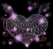 Ornament heart shape for your design Stock Photos