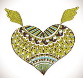 Ornament heart shape for your design Royalty Free Stock Photo