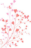 Ornament with heart-shapes. Valentine ornament with heart-shapes stock illustration