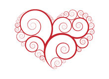 Ornament heart vector Royalty Free Stock Photo