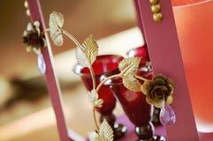 Ornament herbaciany stół, zakończenie Obraz Royalty Free
