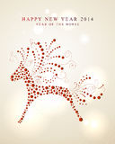 Ornament horse Chinese New Year 2014. 2014 Chinese New Year of the Horse red dots shape illustration. EPS10 vector file with transparency layers royalty free illustration