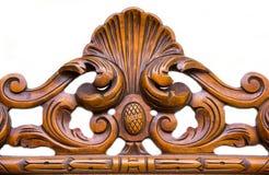 Ornament in hout wordt gesneden dat Stock Foto's