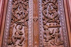 Ornament houten venster Royalty-vrije Stock Afbeeldingen