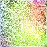 Ornament. Indian mandala. Color pattern (green). The image can be used as a background template, the substrate, wallpaper, when printing on the cloth in the Stock Photo